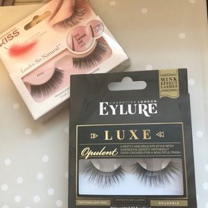 Eylure Luxe and Kiss false lashes